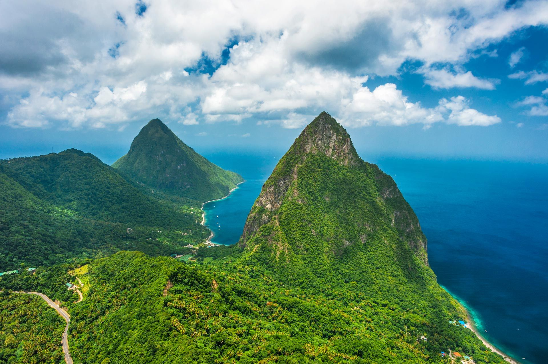 St. Lucia Pitons Mountains