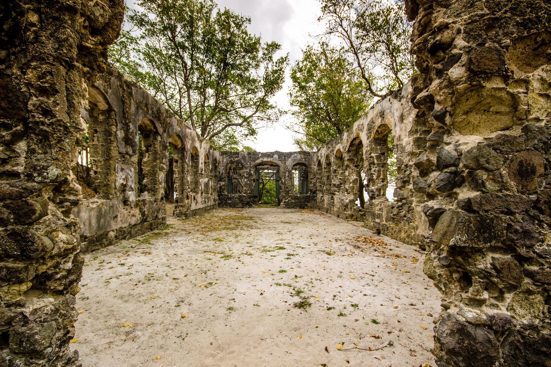 The ruins in Saint Lucia