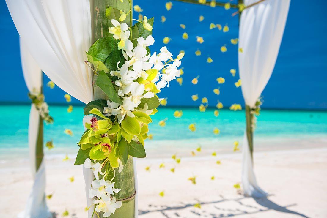 flowers on wedding venue