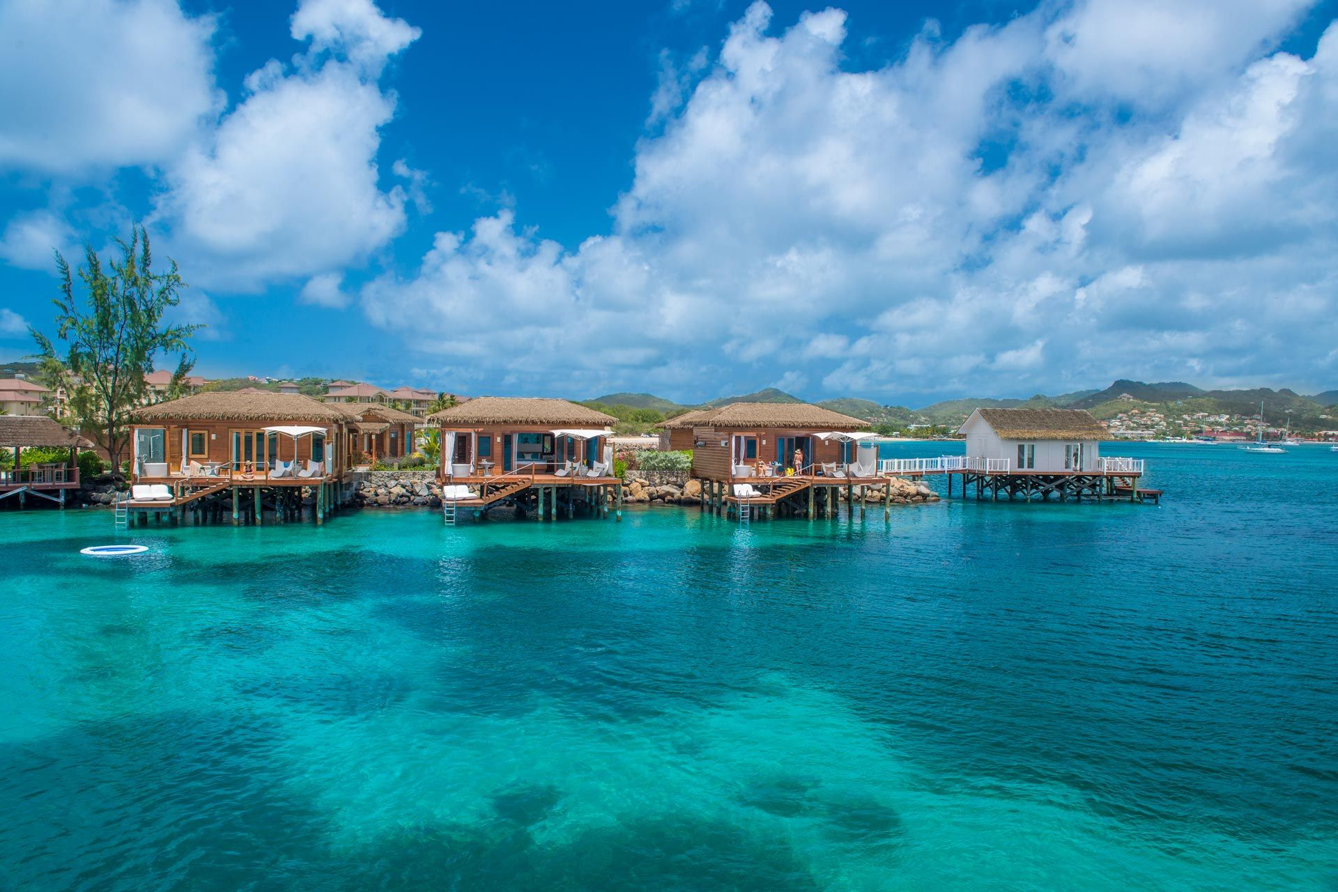 overwater bungalow saint lucia