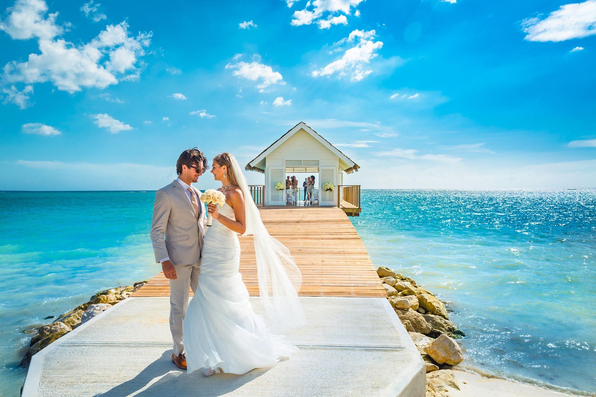 overwater chapel wedding