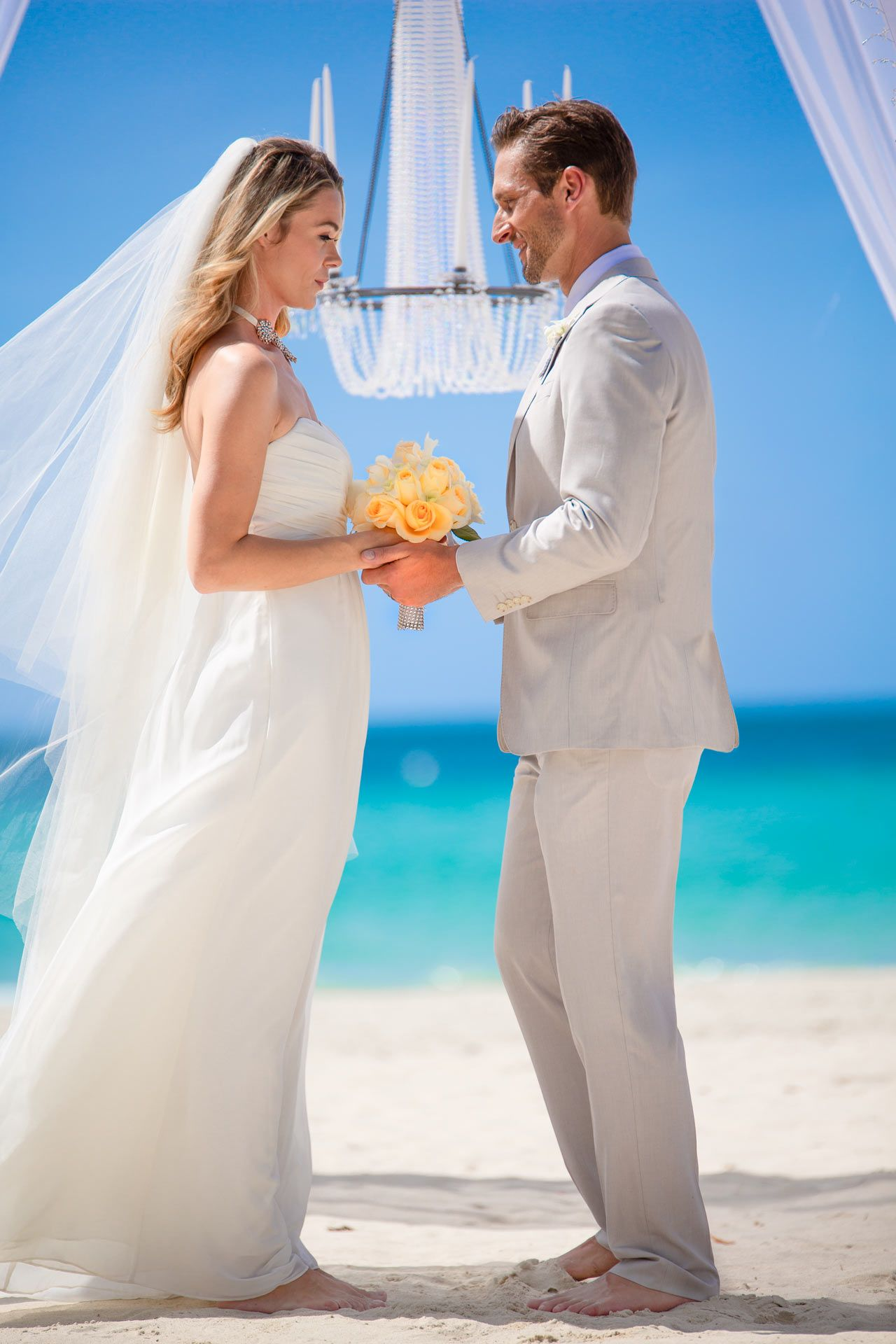 Beach elopement wedding in the Caribbean
