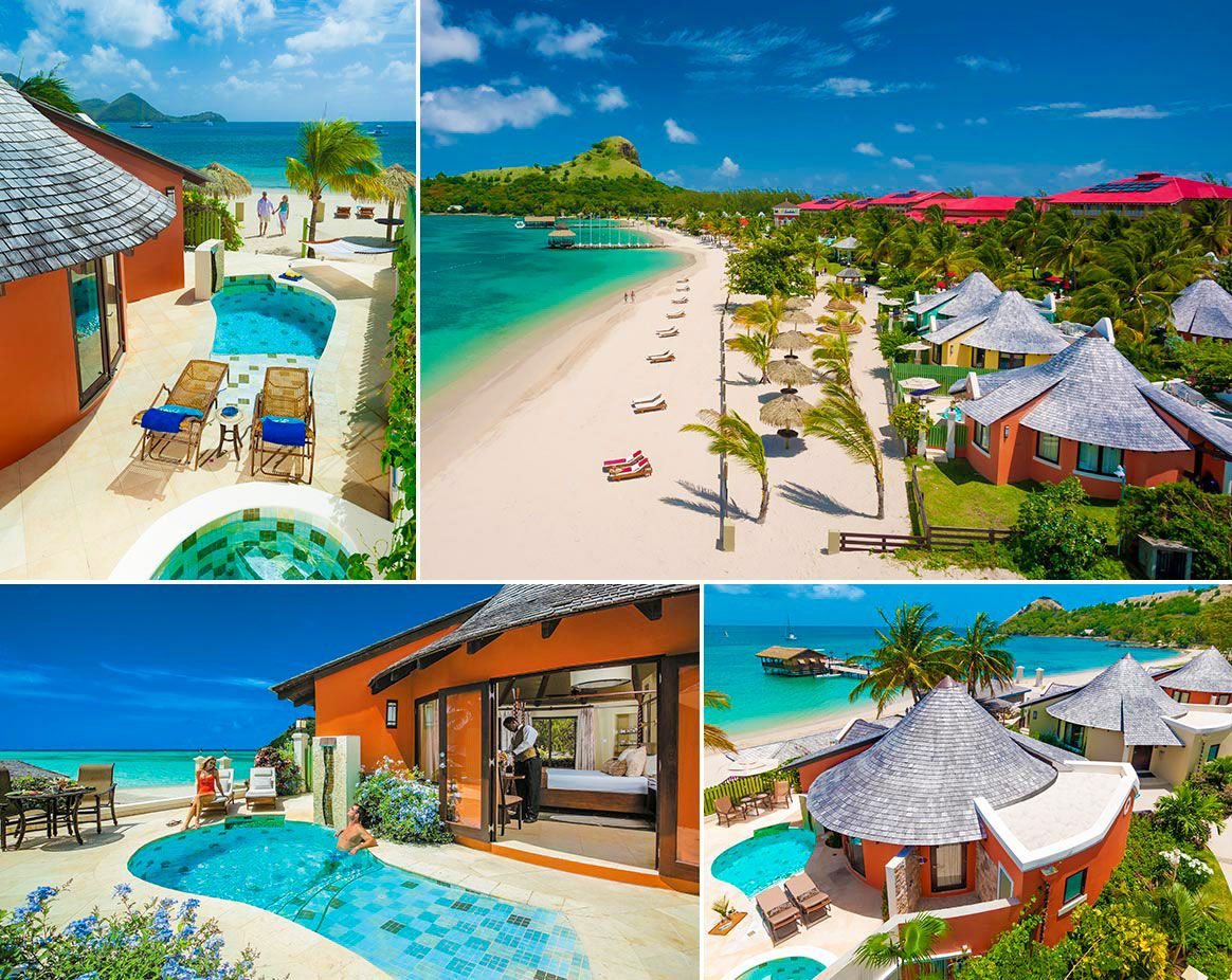 beachfront rondoval sandals grande st lucian