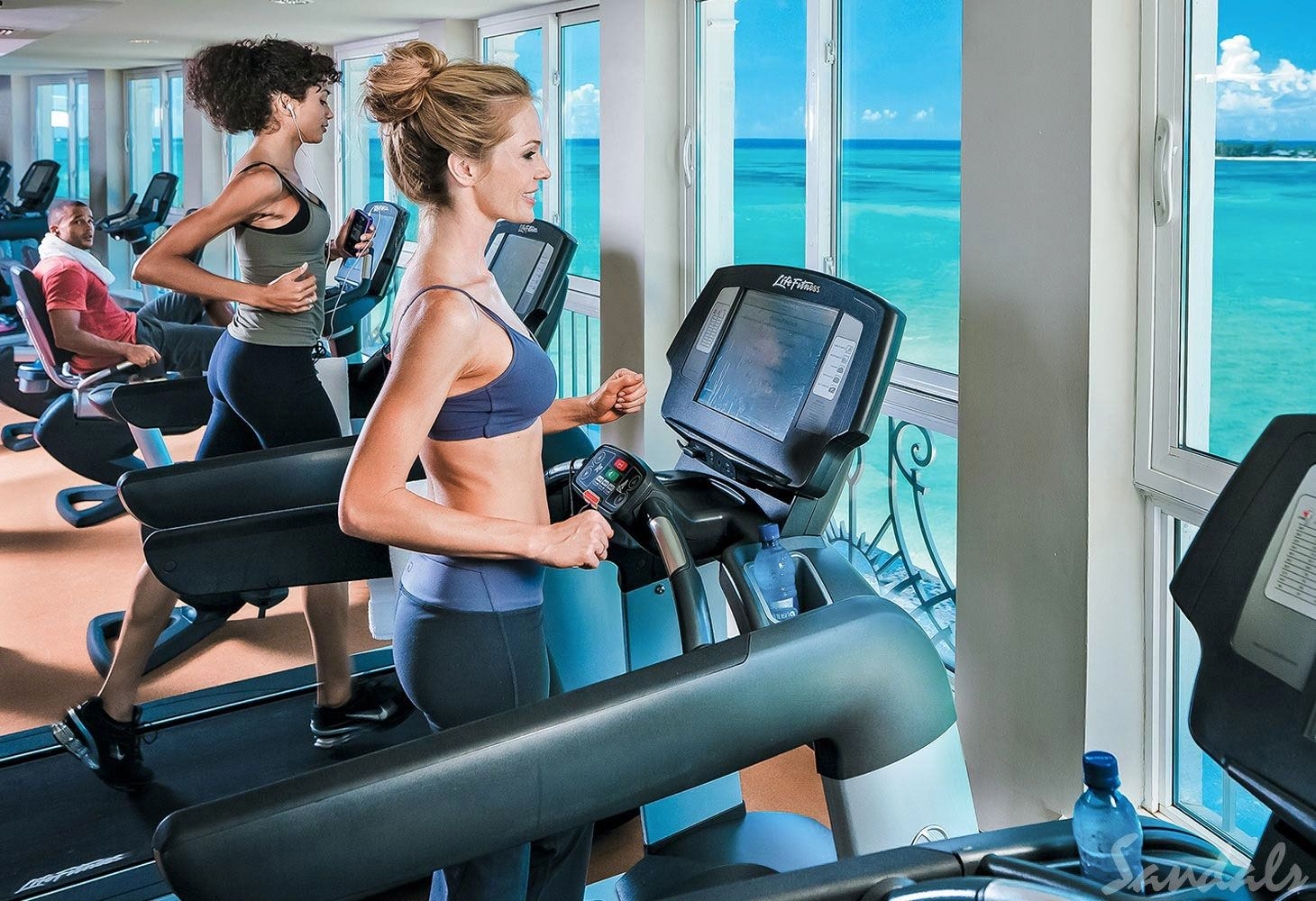 gym with view sandals royal bahamian