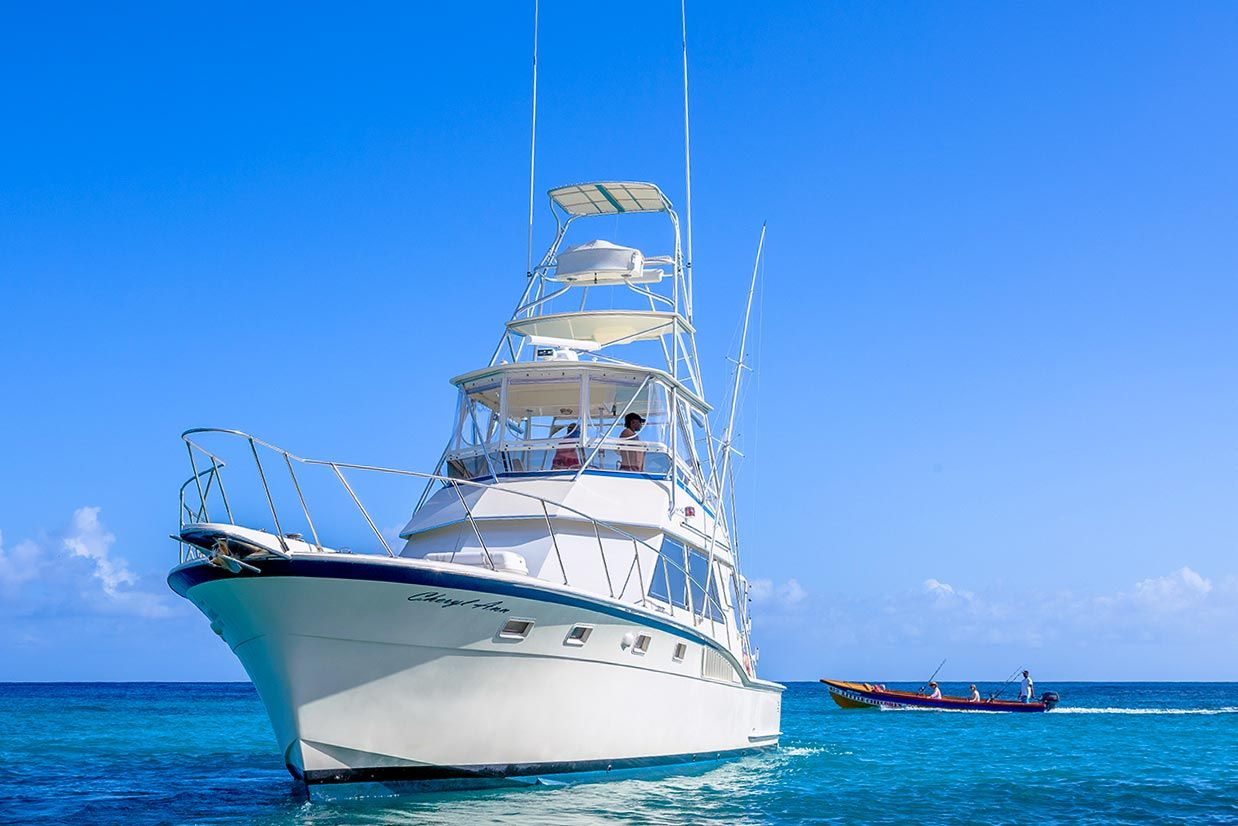 a large sport fishing boat