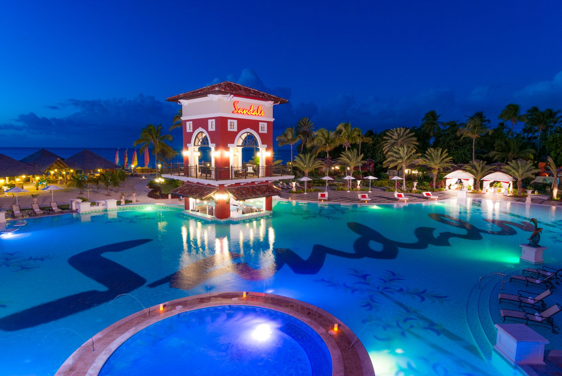 sandals grande antigua swim up bar