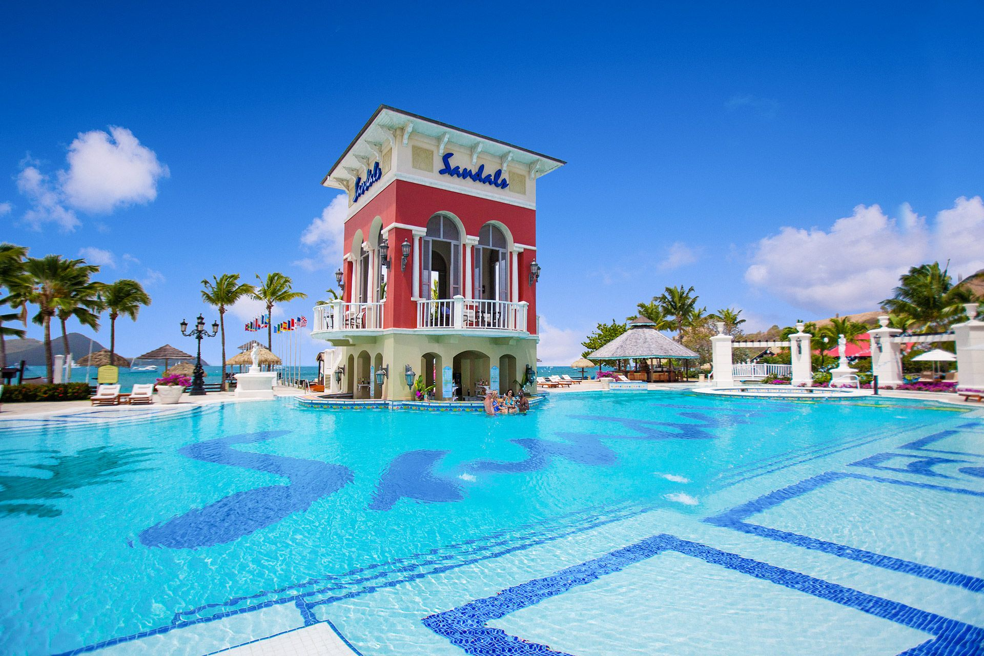 sandals grande st lucian swim up bar
