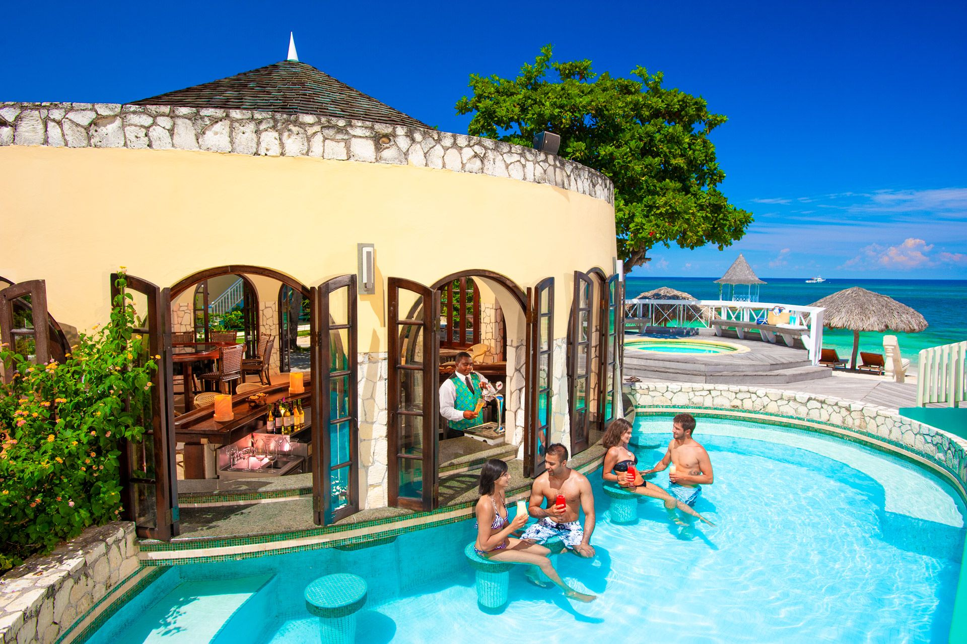 sandals montego bay swim up bar