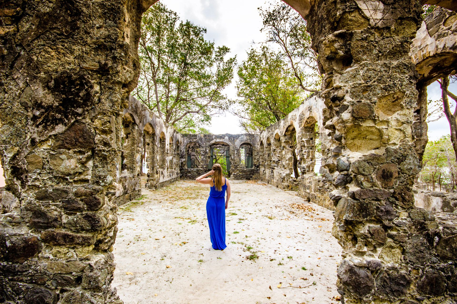 woman-at-pigeon-island-ruins