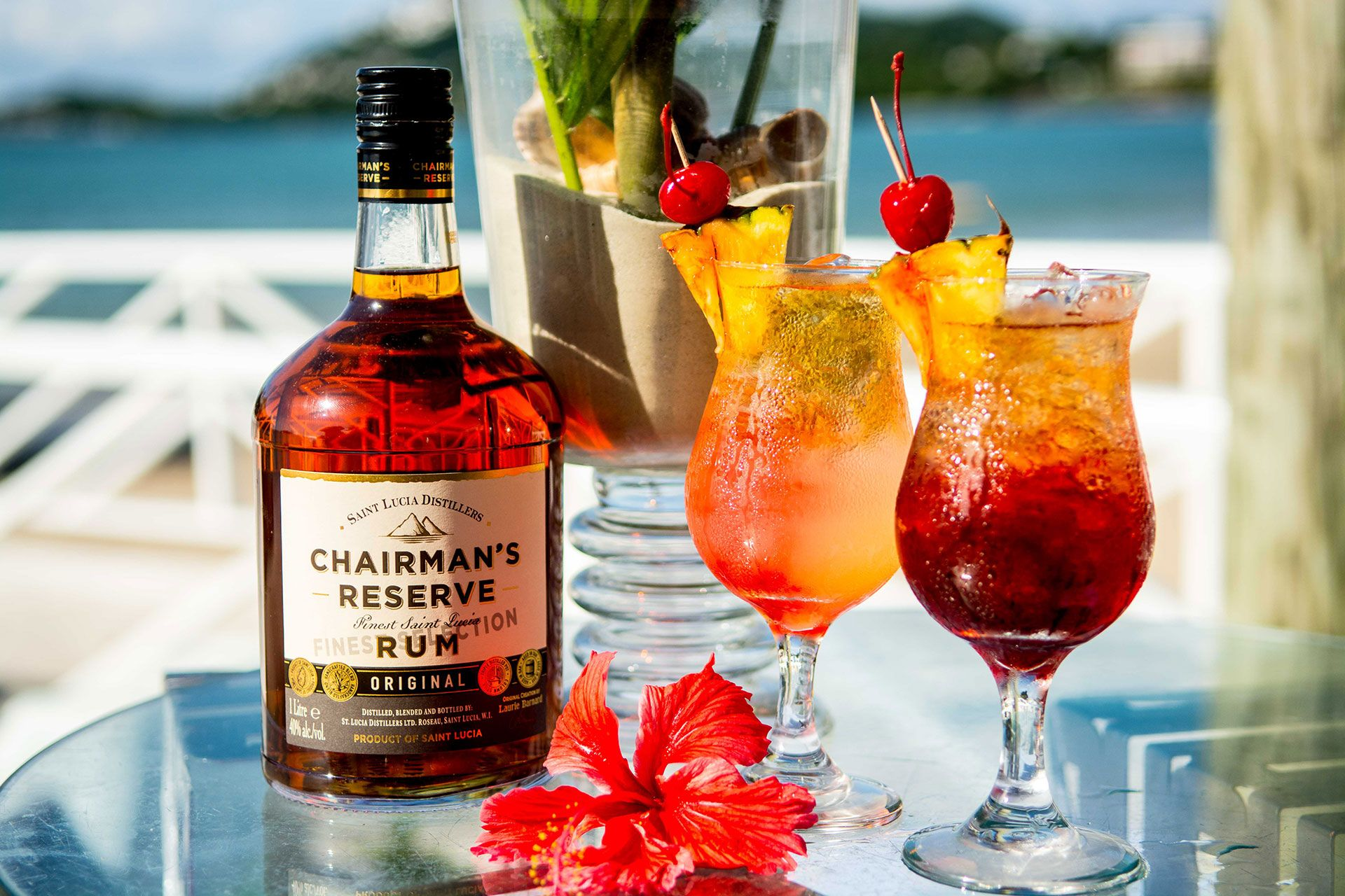 Chairman's Reserve rum at Sandals Halcyon Beach