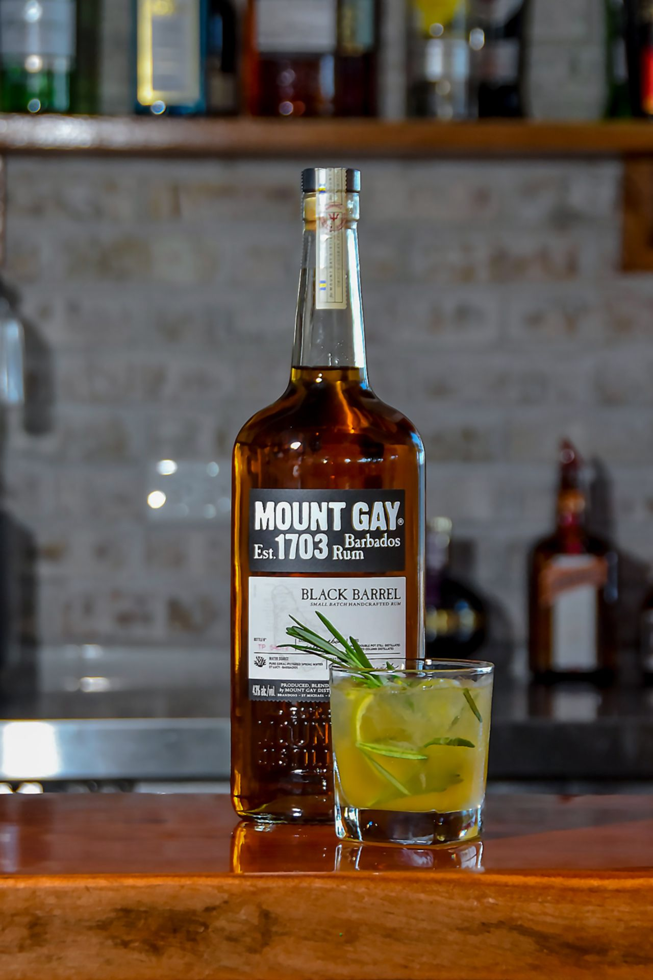 Mount Gay rosemary rum sour at Sandals Royal Barbados