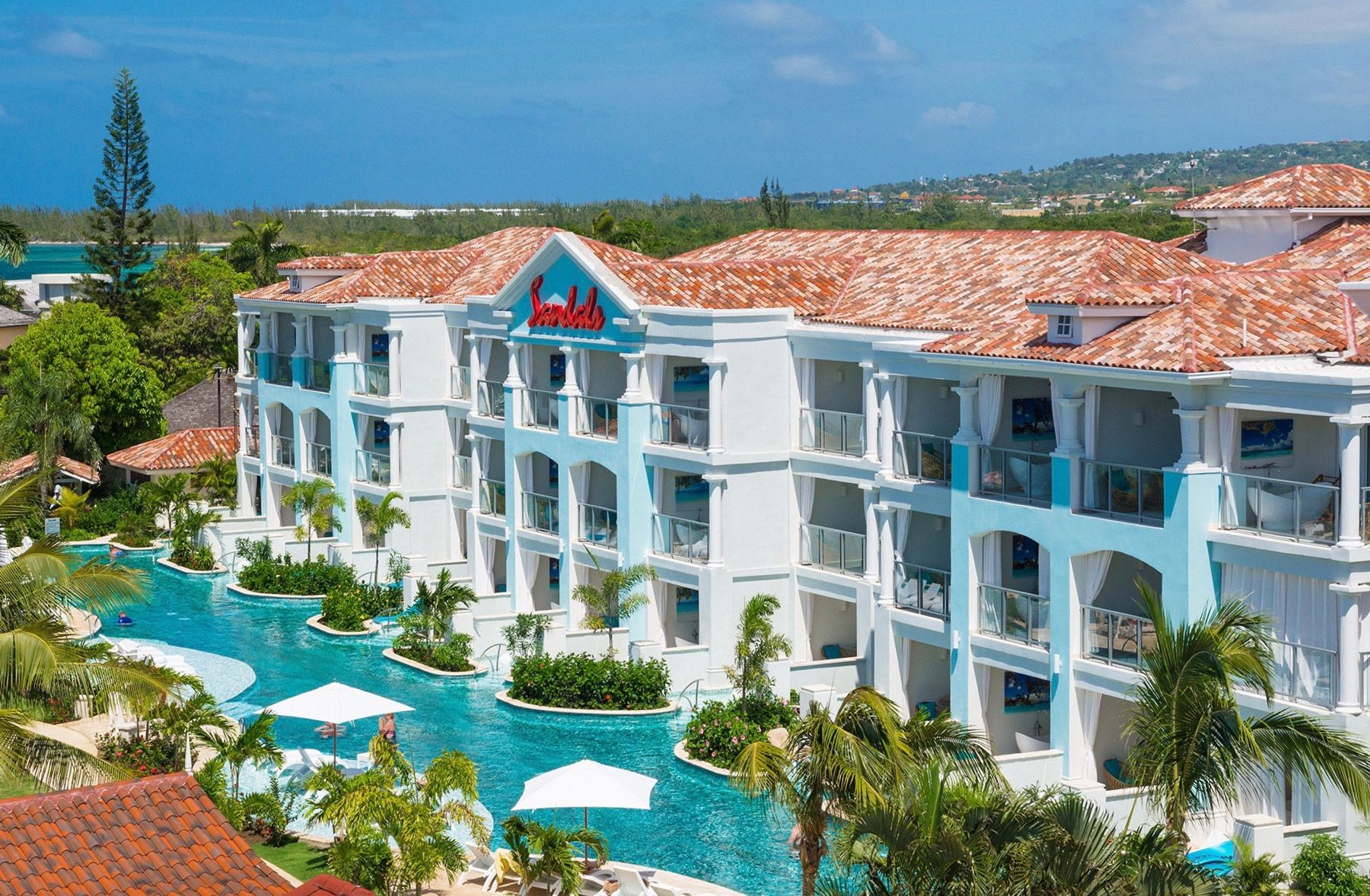 sandals montego bay resort front view