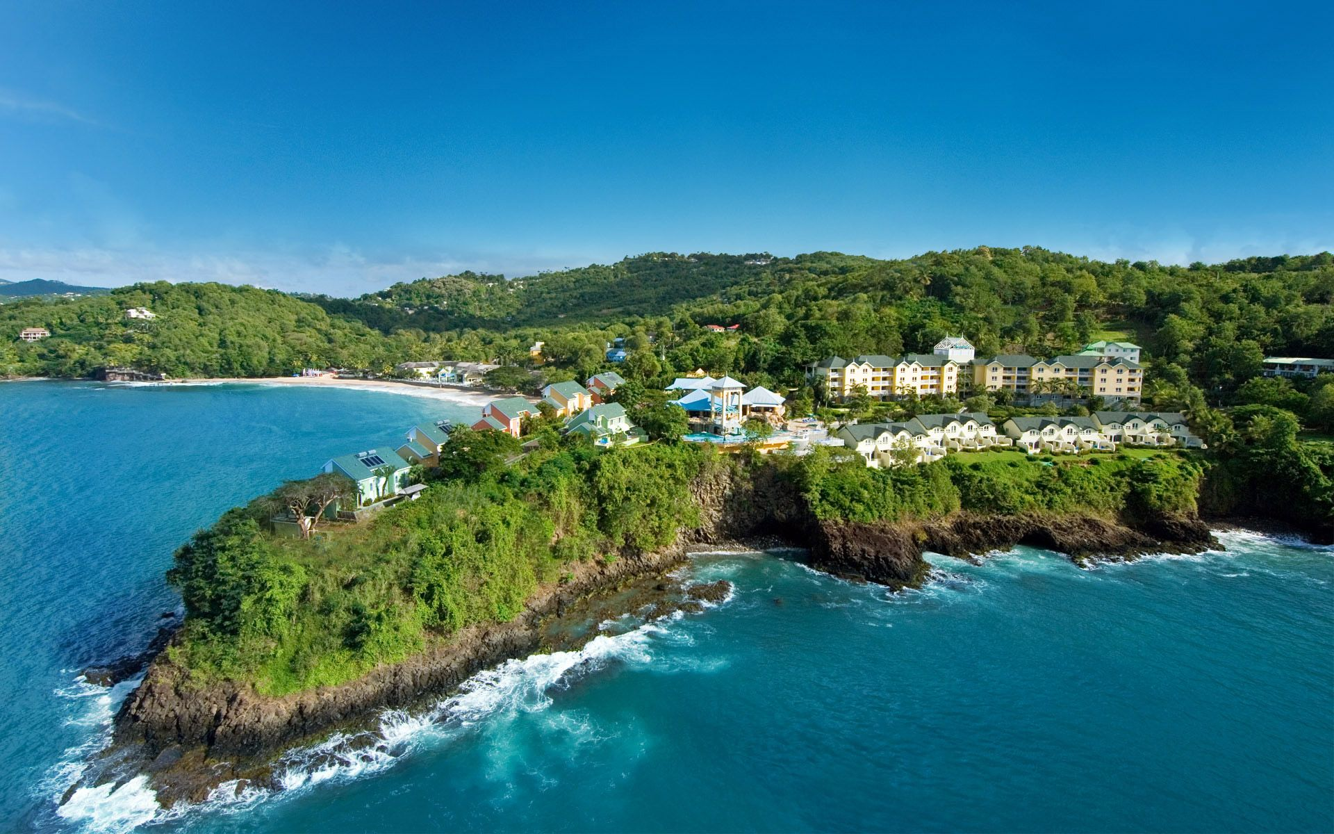 aerial view sandals regency la toc