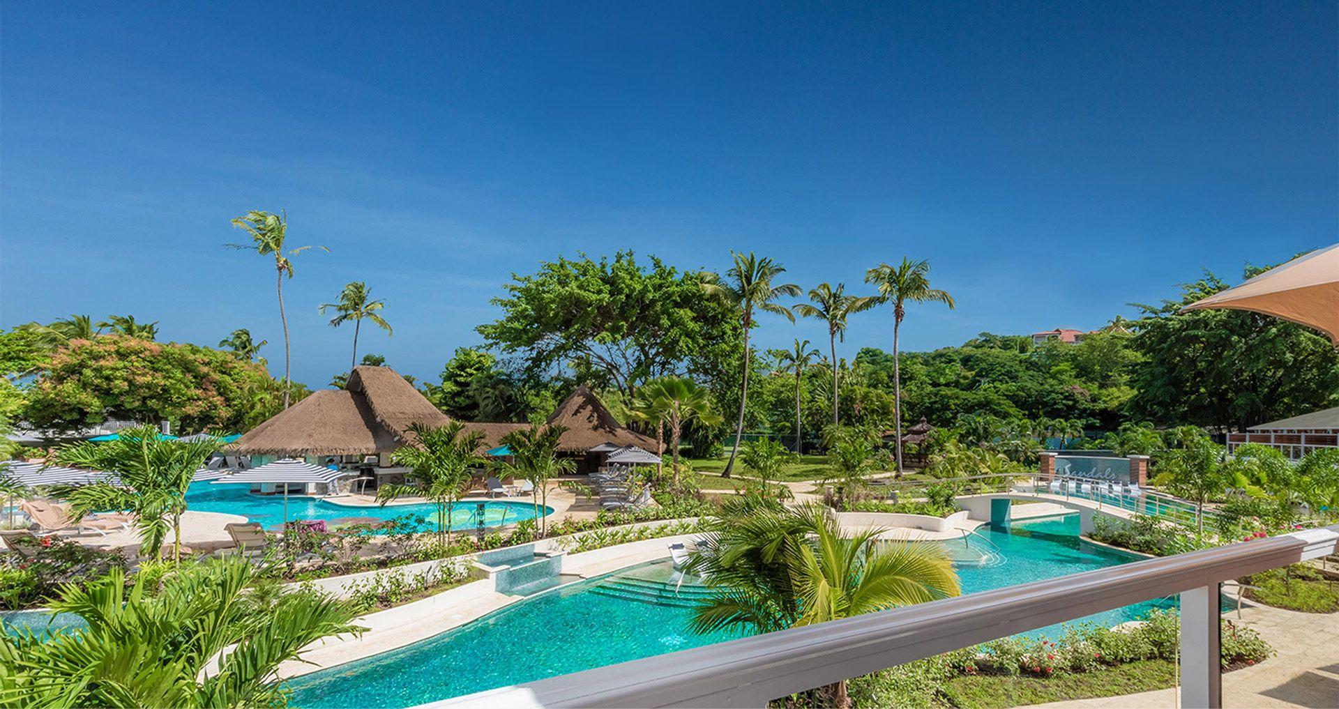 paradise pool sandals halcyon beach