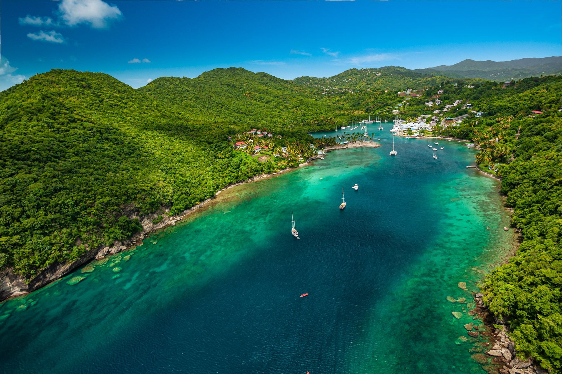 marigot bay at saint lucia