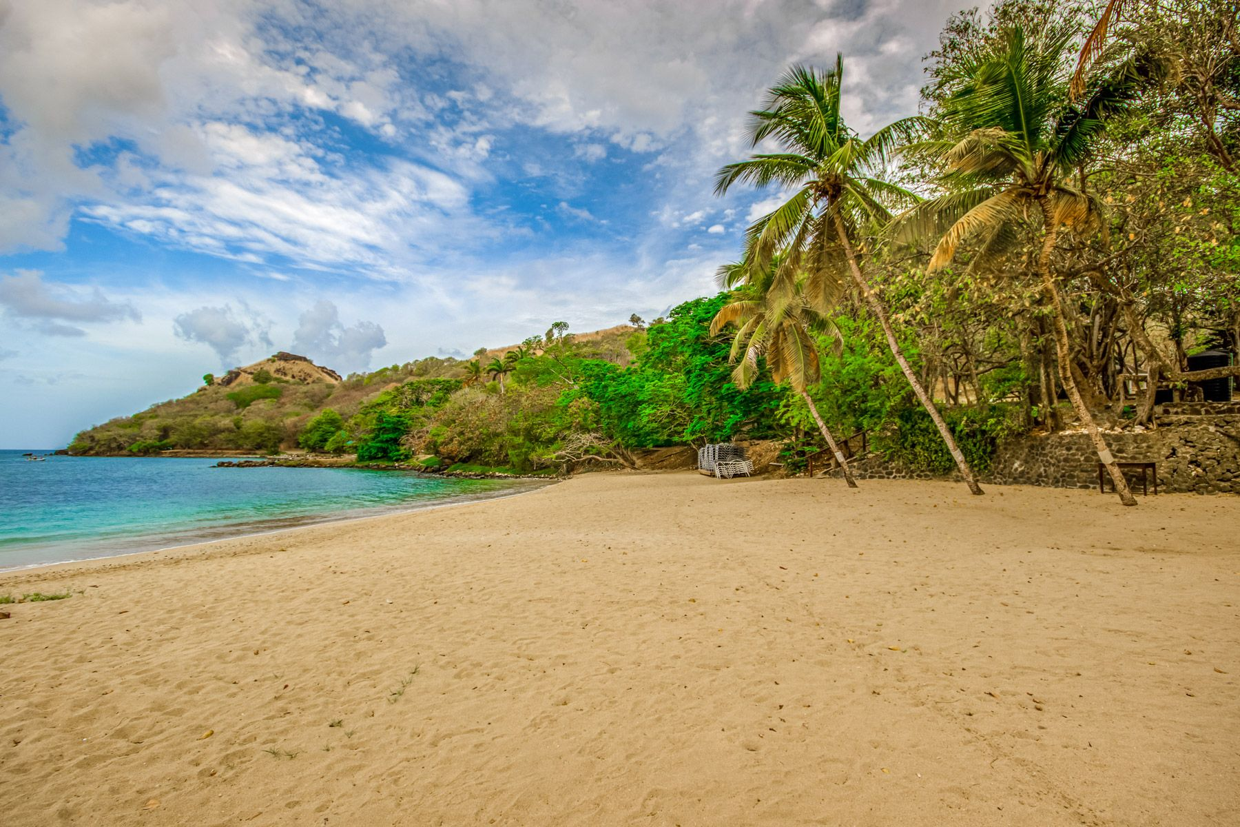 Beach at Pigeon Island Saint Lucia