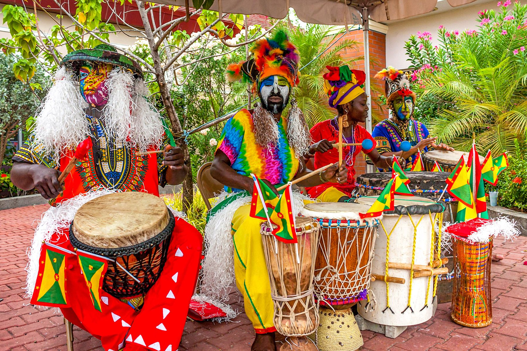 Celebration Saint George Grenada African drums
