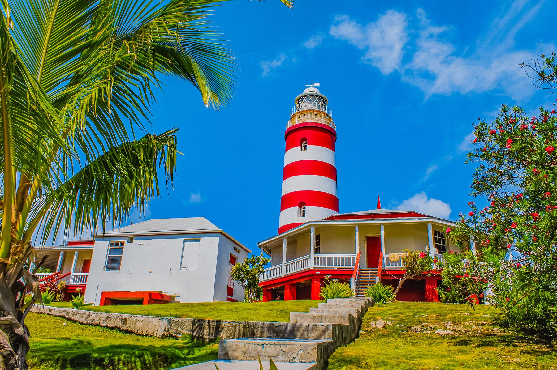 Elbow Reef Lighthouse Hope Town Marsh Harbour Abaco Bahamas