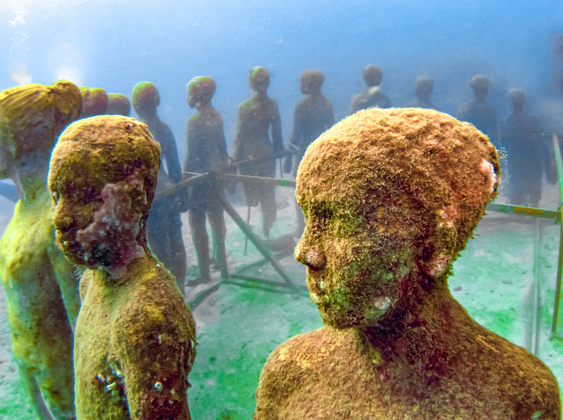 Underwater Sculpture Park Children Grenada
