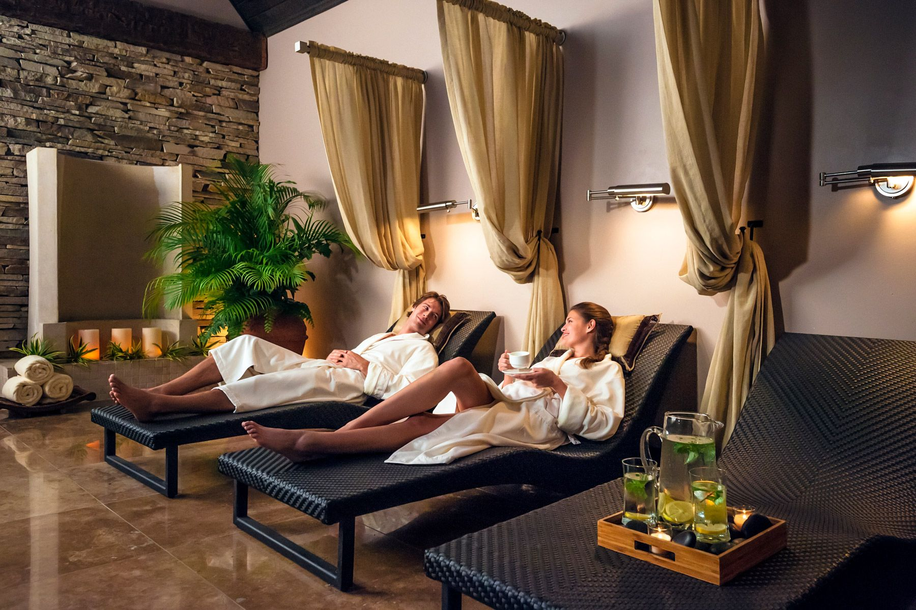 couple relaxing at red lane spa