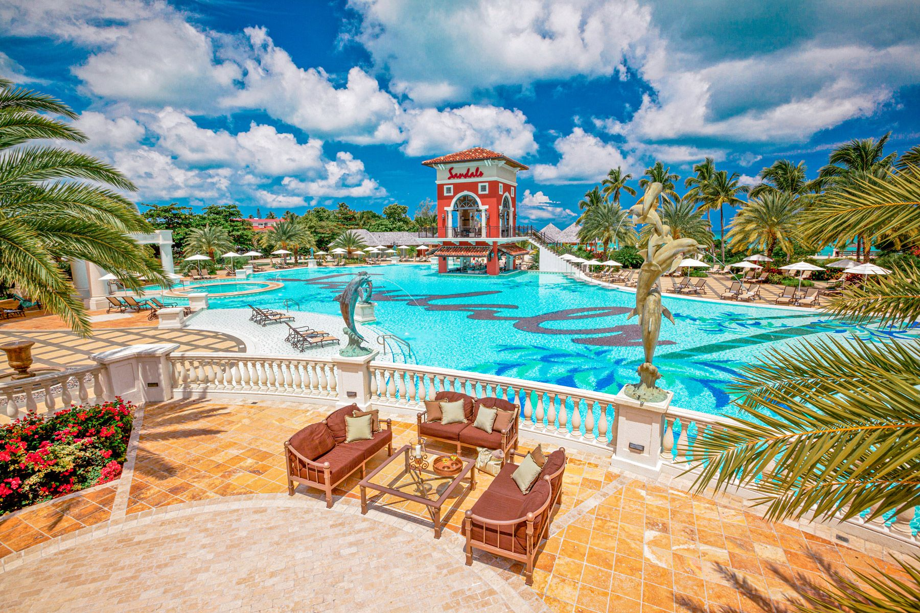 sandals grande antigua main pool