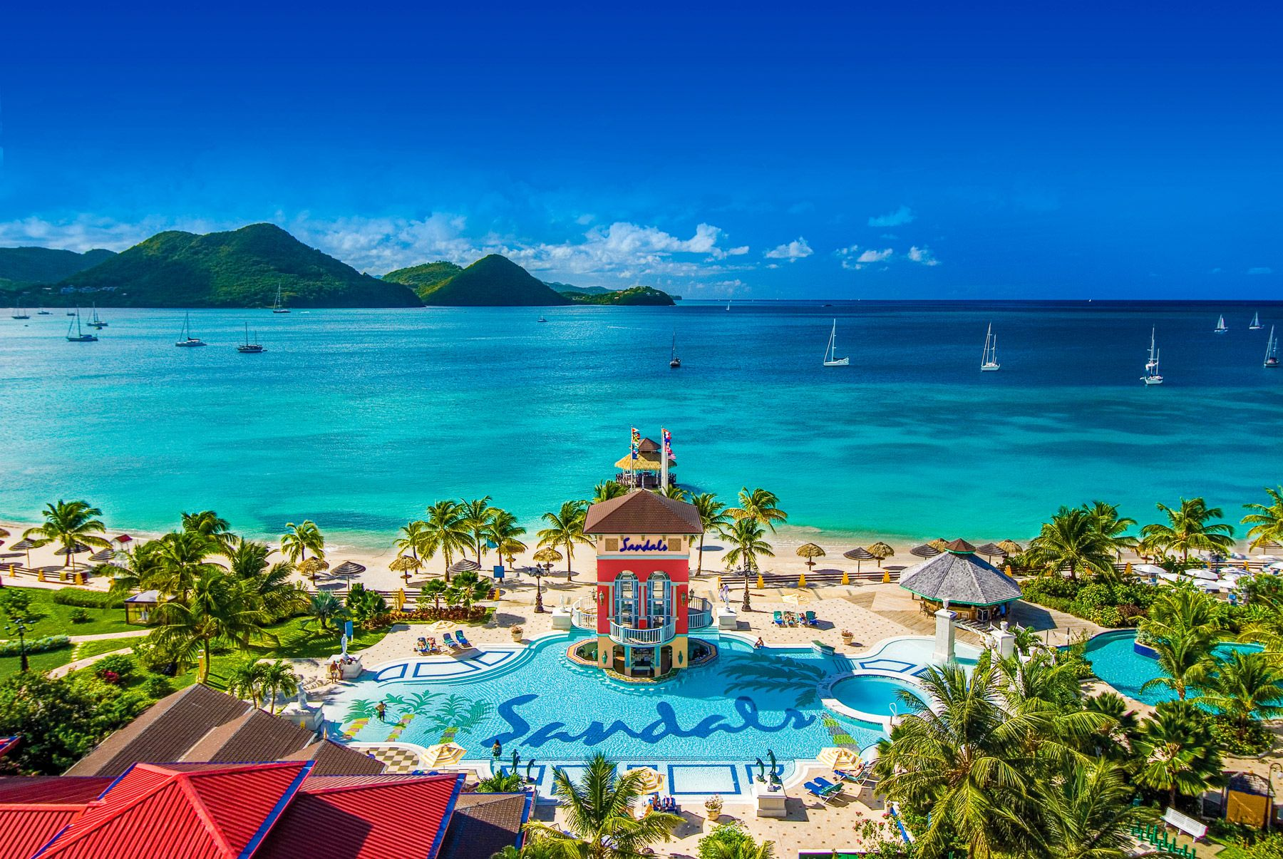Three things guests love about... Sandals Grande St. Lucian. A full review.