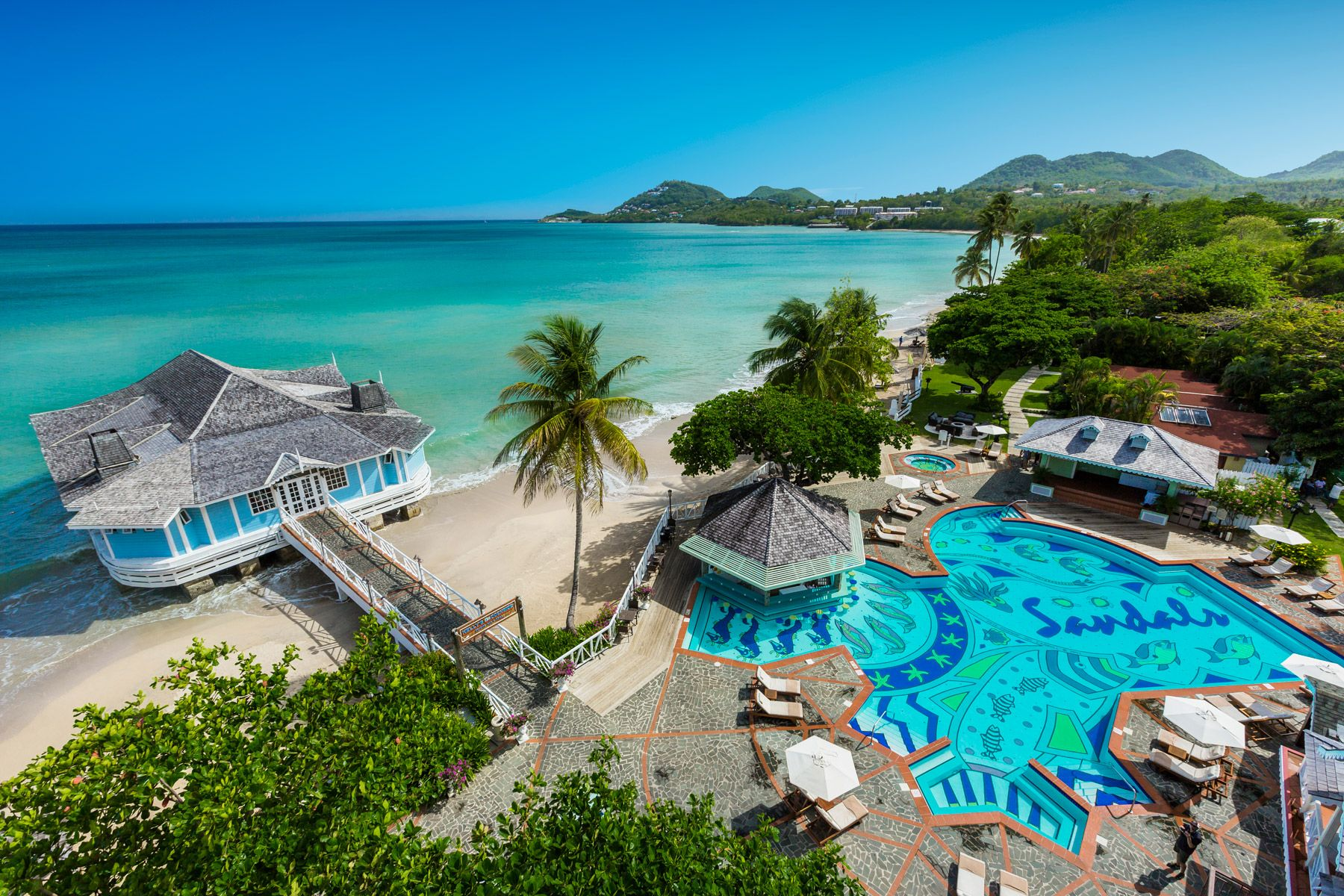 sandals halcyon beach resort overview