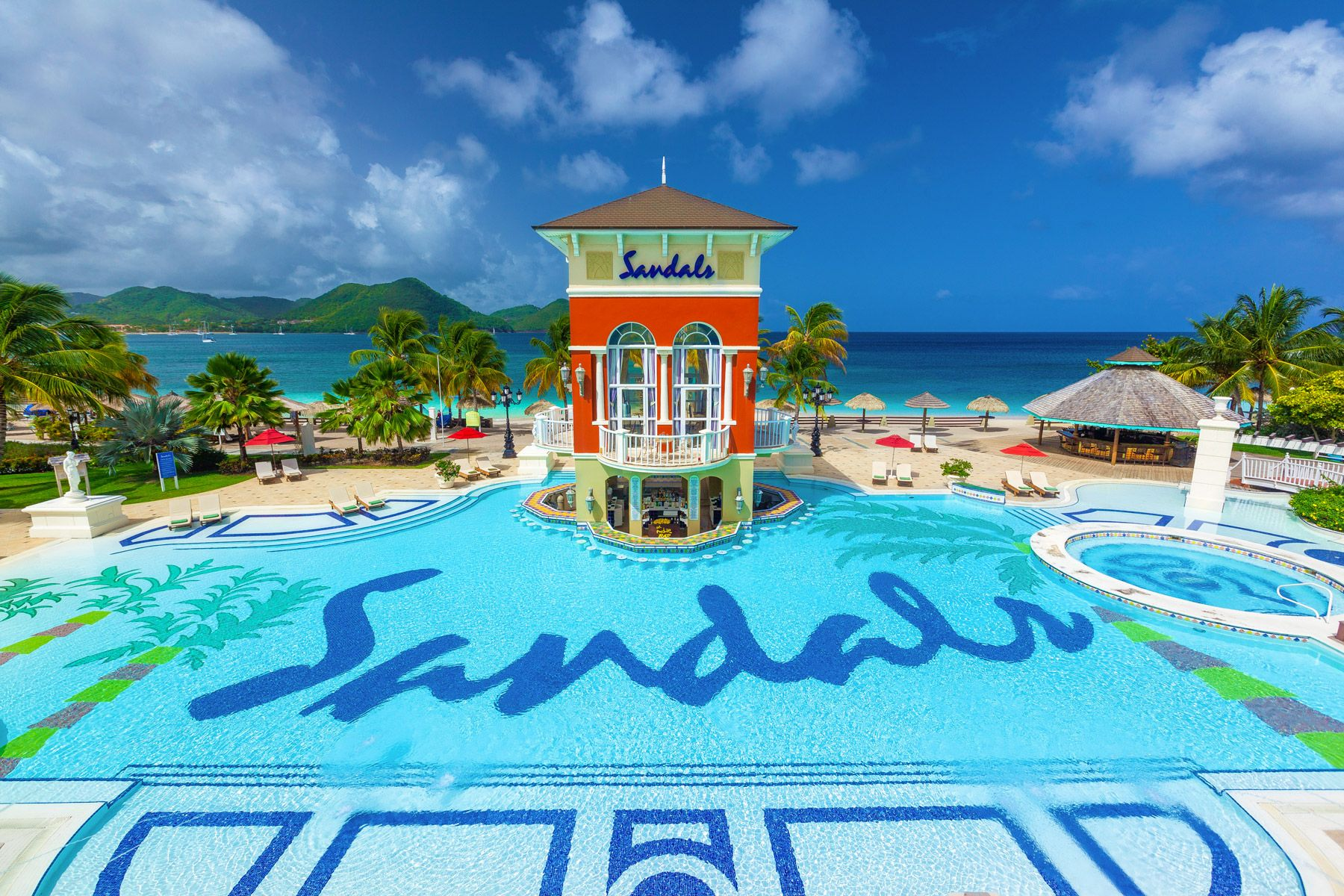 sandals grande saint lucian main pool