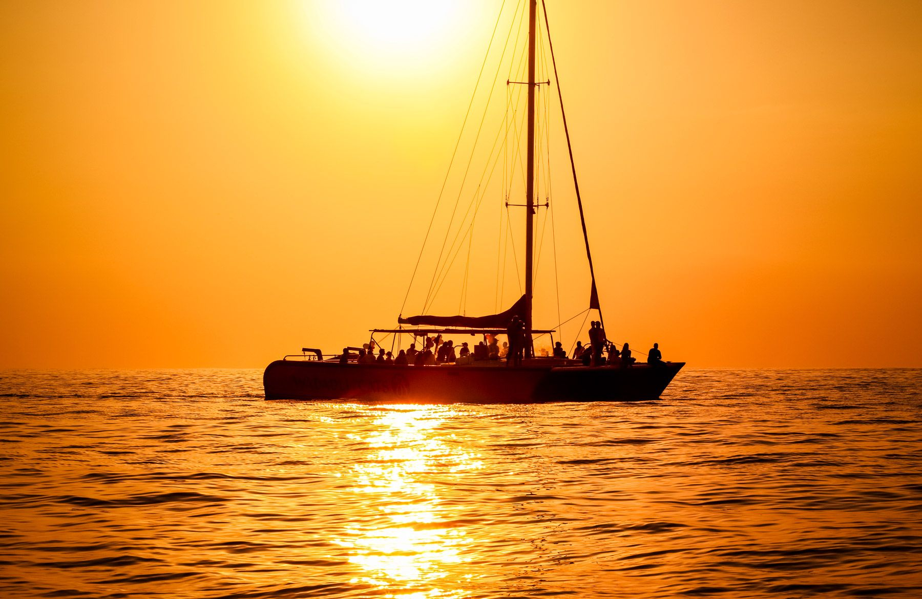 Sunset cruise antigua
