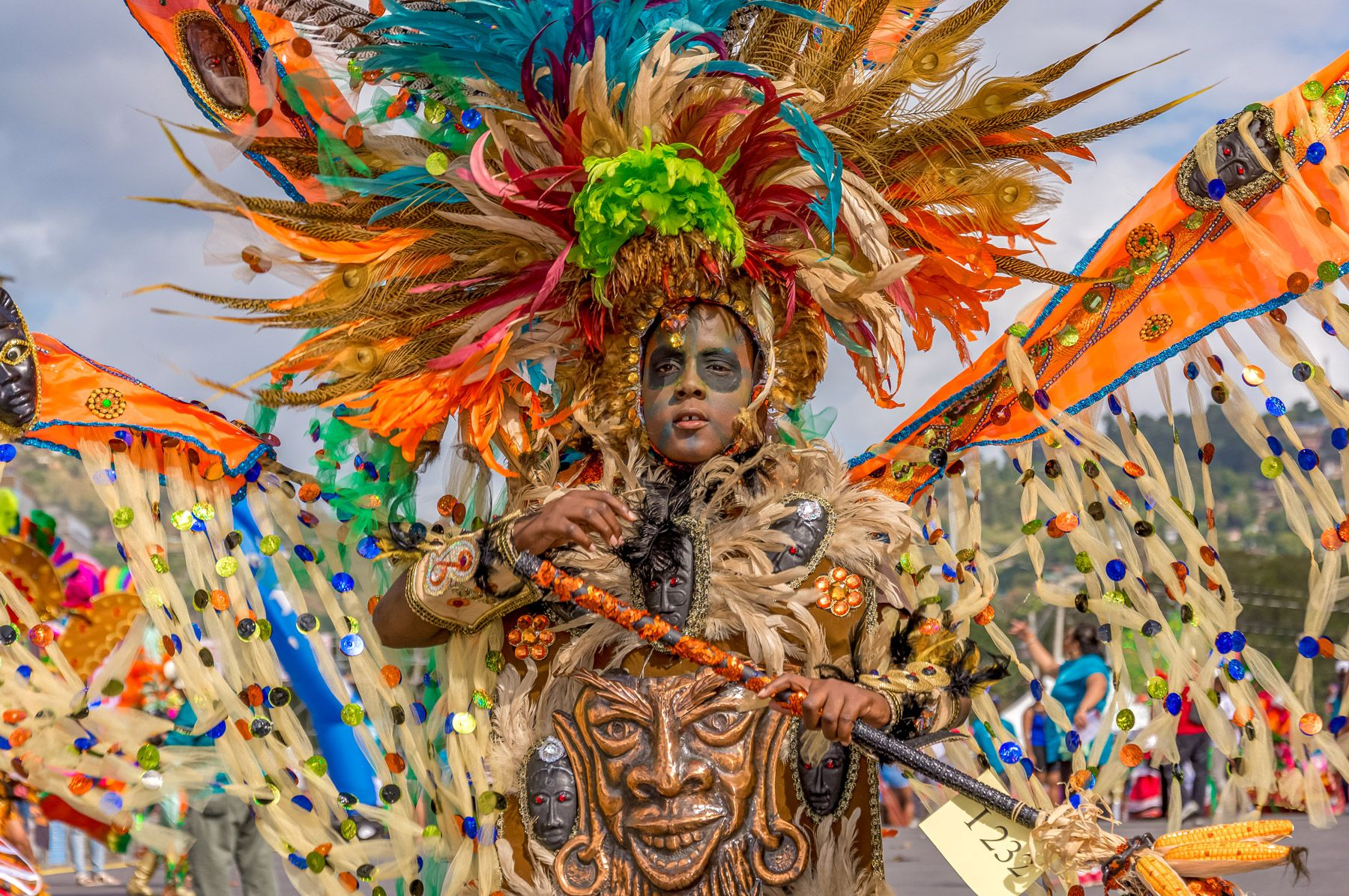 boy enjoys carnival trinidad