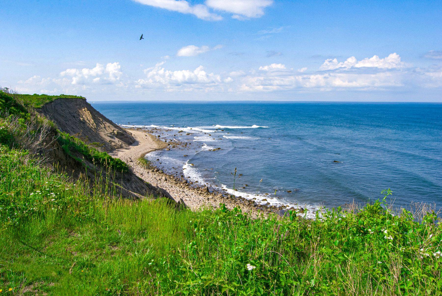 Mohegan Bluffs Block Island Rhode Island USA