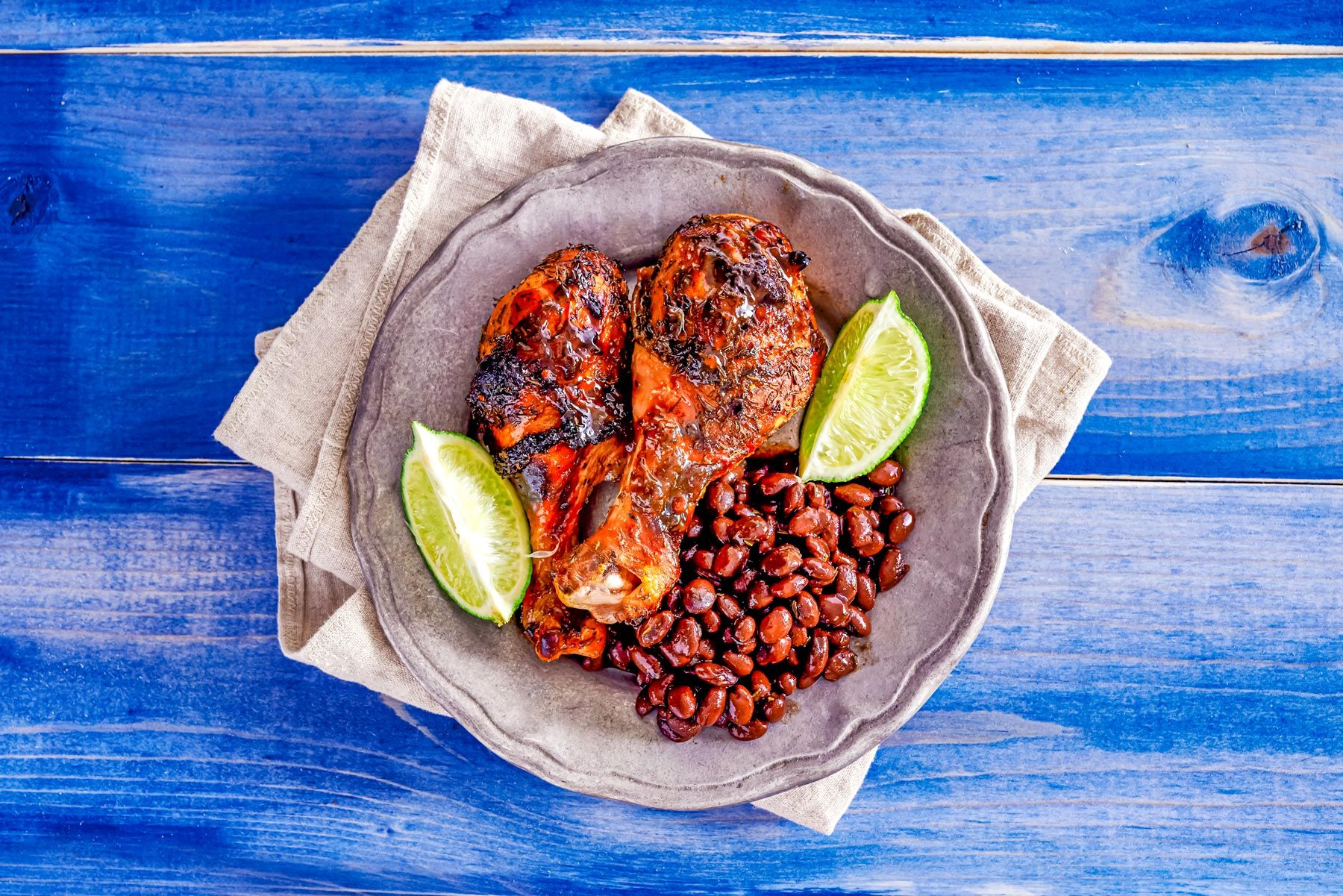 Grilled jamaican jerk chicken