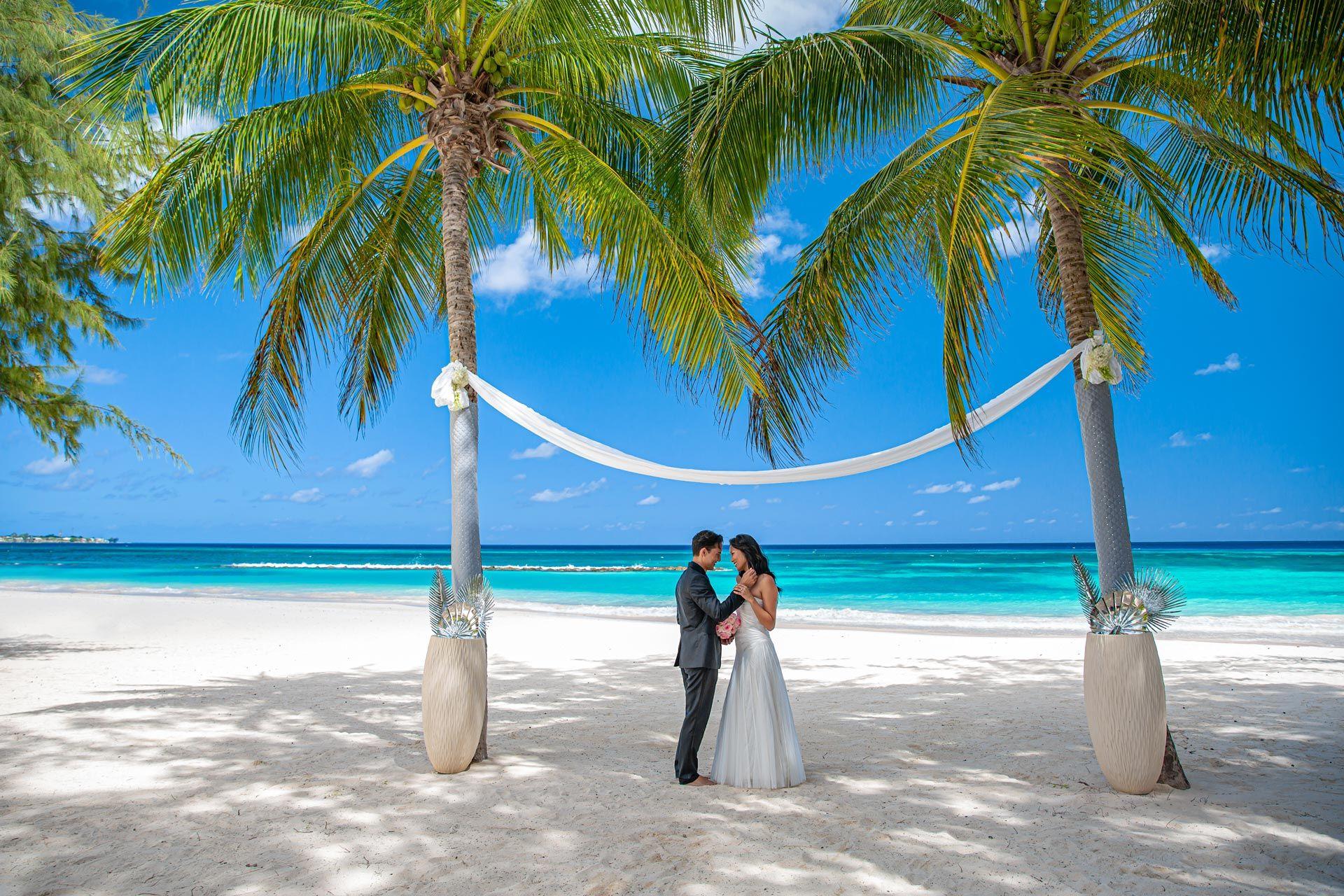 Sandals Barbados Couple Wedding Beach