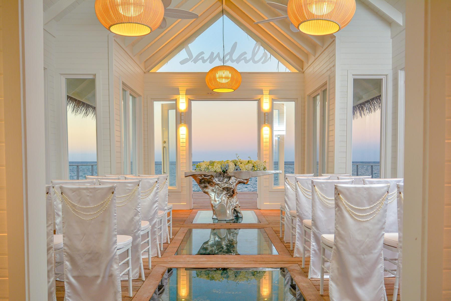 Sandals Montego Bay SMB Over The Water Chapel Interior
