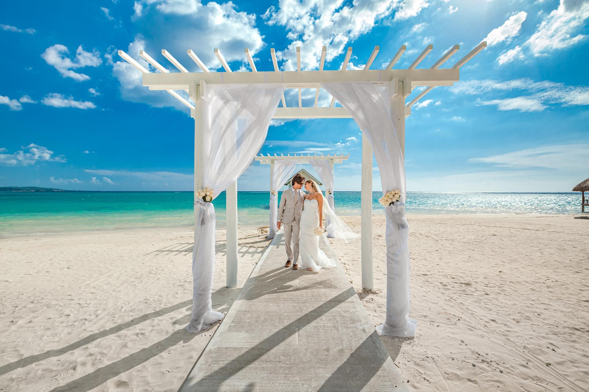 Sandals White House Over the water Chapel Wedding