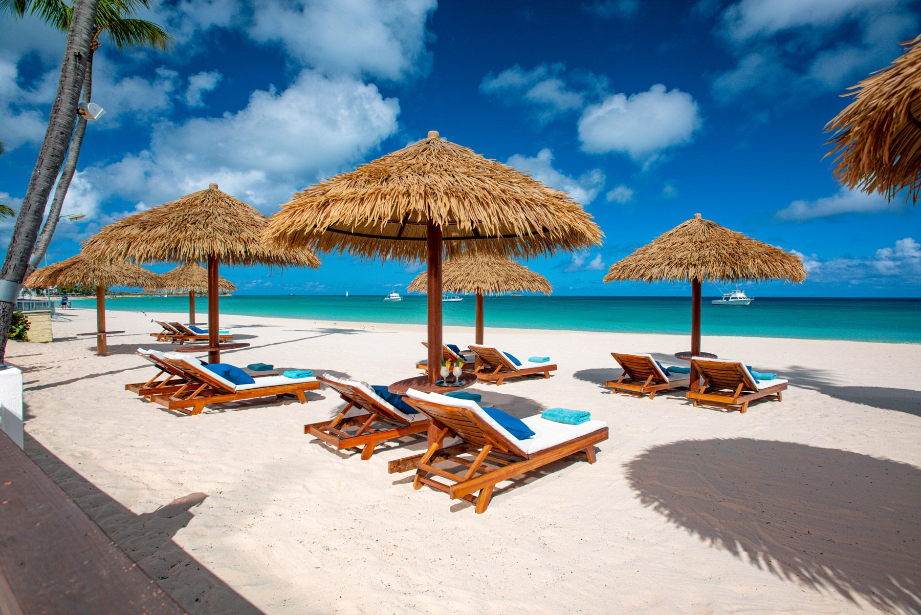 beach lounge chairs sandals grande antigua SAT
