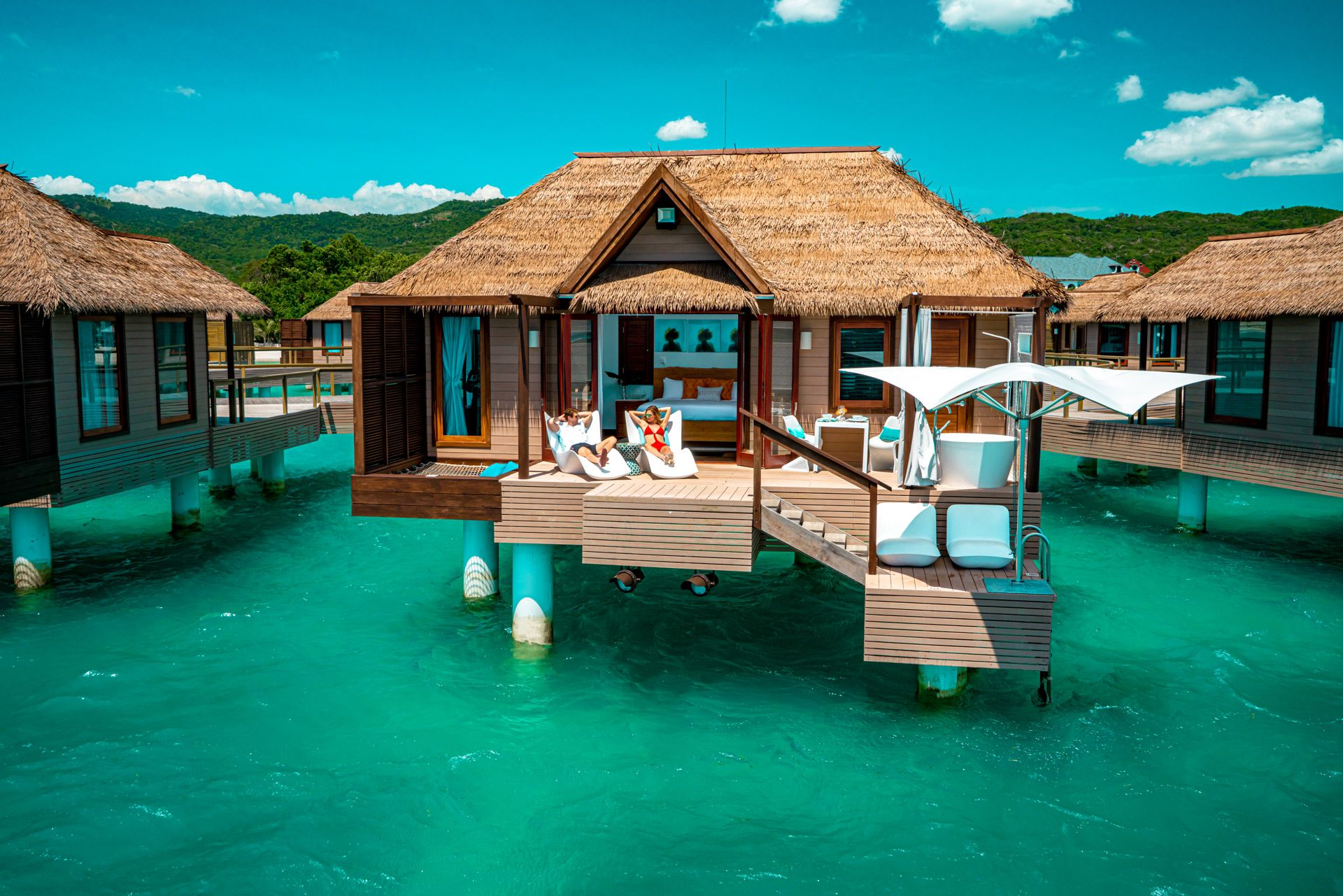 SWH Over Water Bungalow Aerial