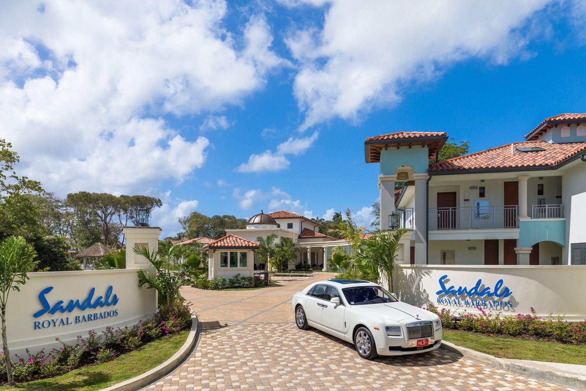 Sandals Royal Barbados Entrance Rolls Royce