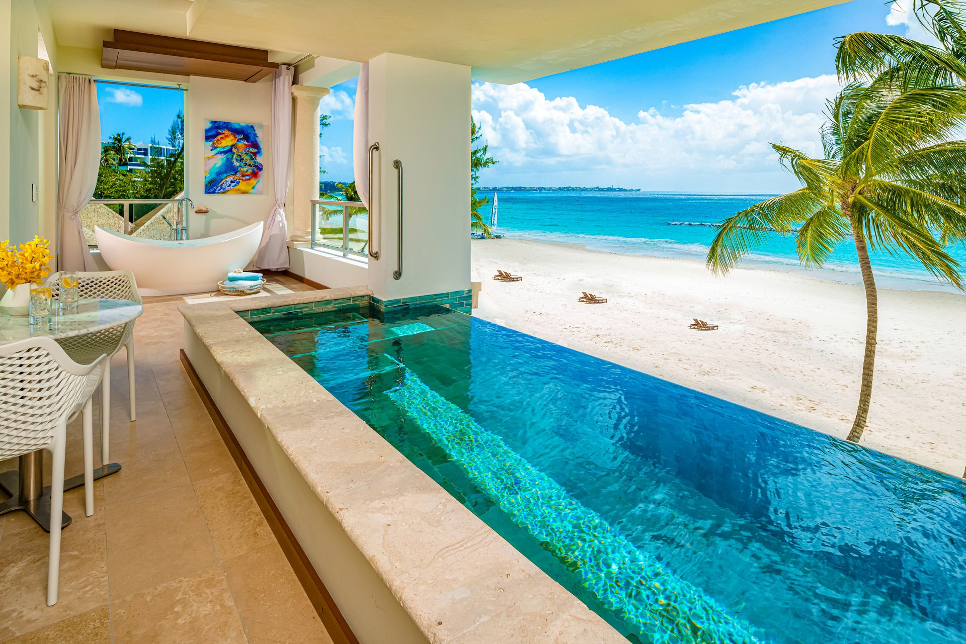 Sandals Skypool Suite Balcony SBR