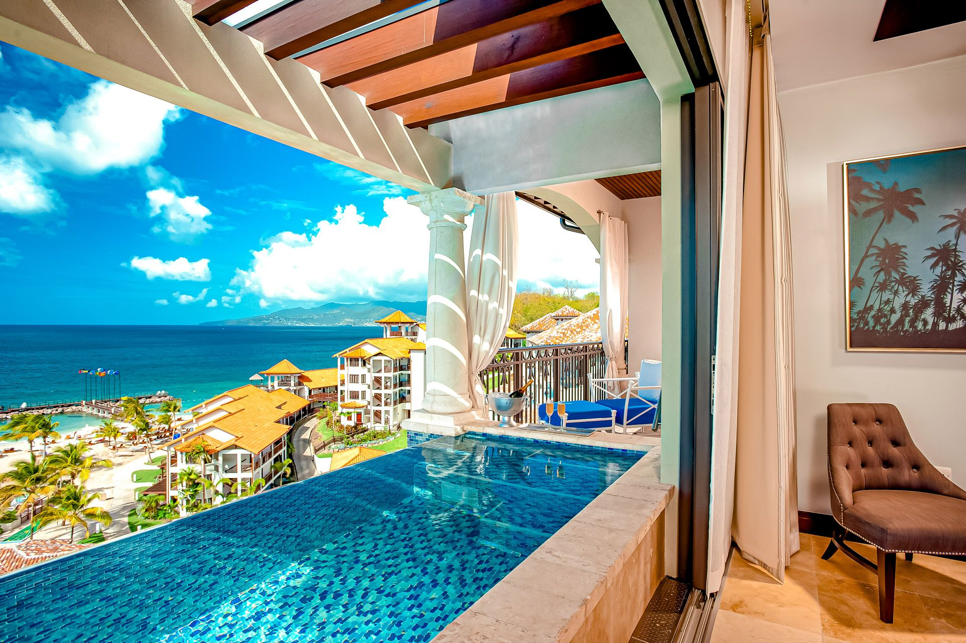 Sandals Skypool Suite Balcony SLG