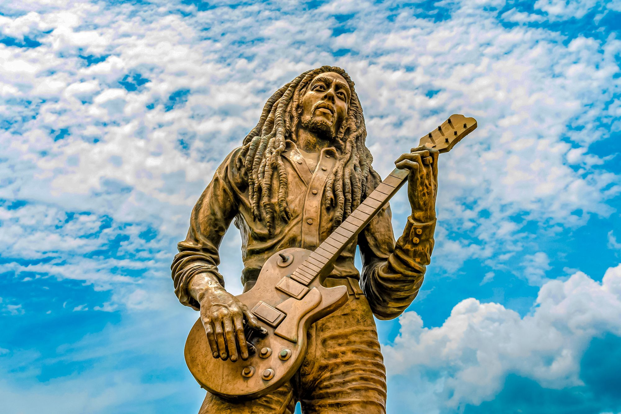 Bob Marley Statue Kingston Jamaica