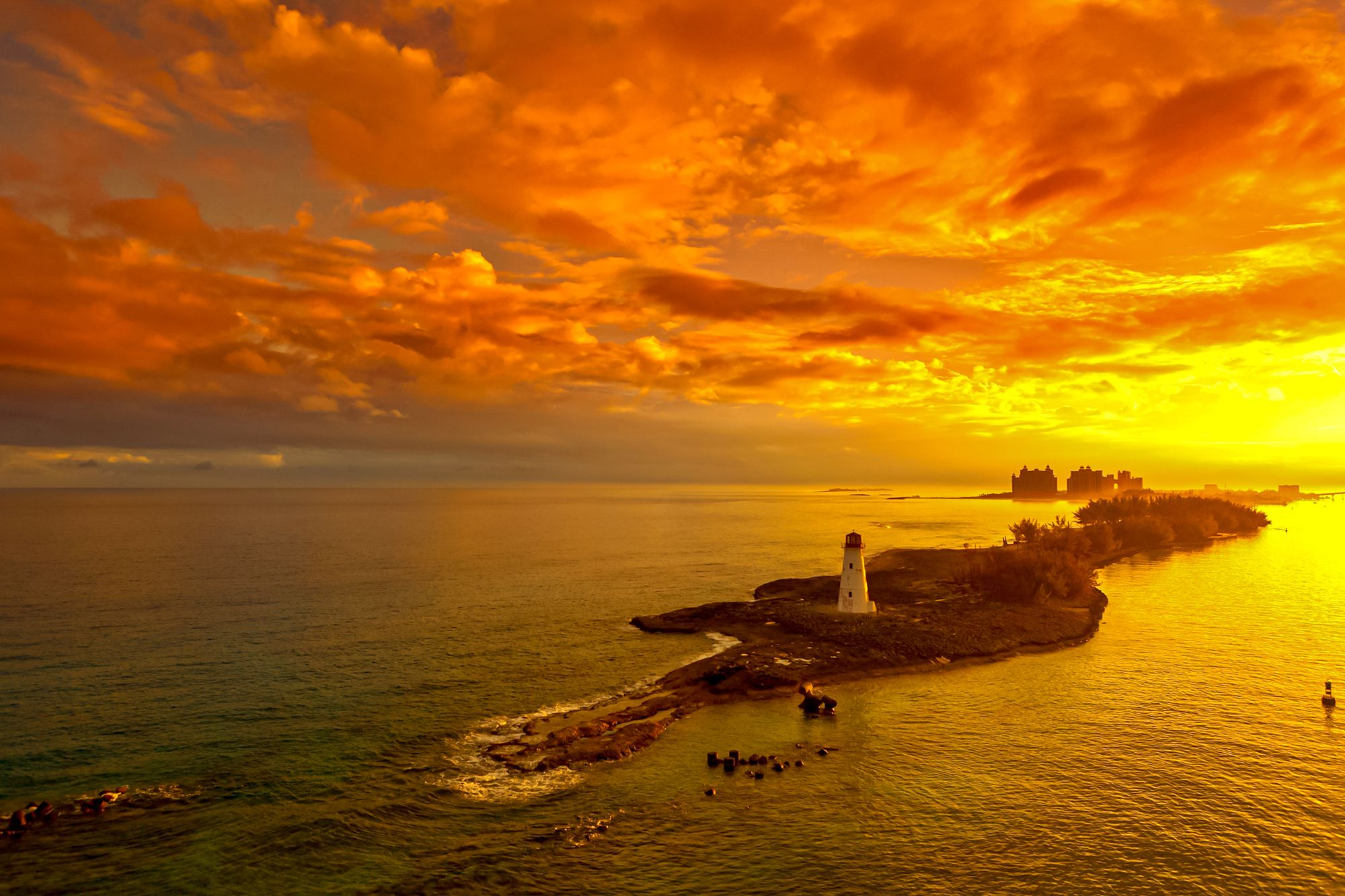 Lighthouse Sunset Nassau Bahamas