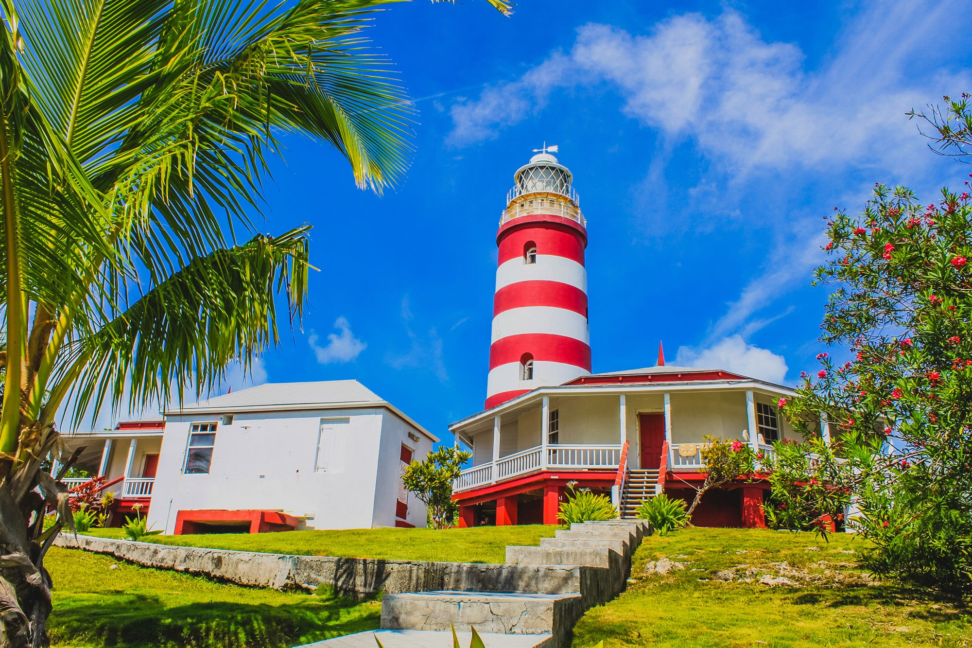 Elbow Reef Lighthouse Hope Town Bahamas