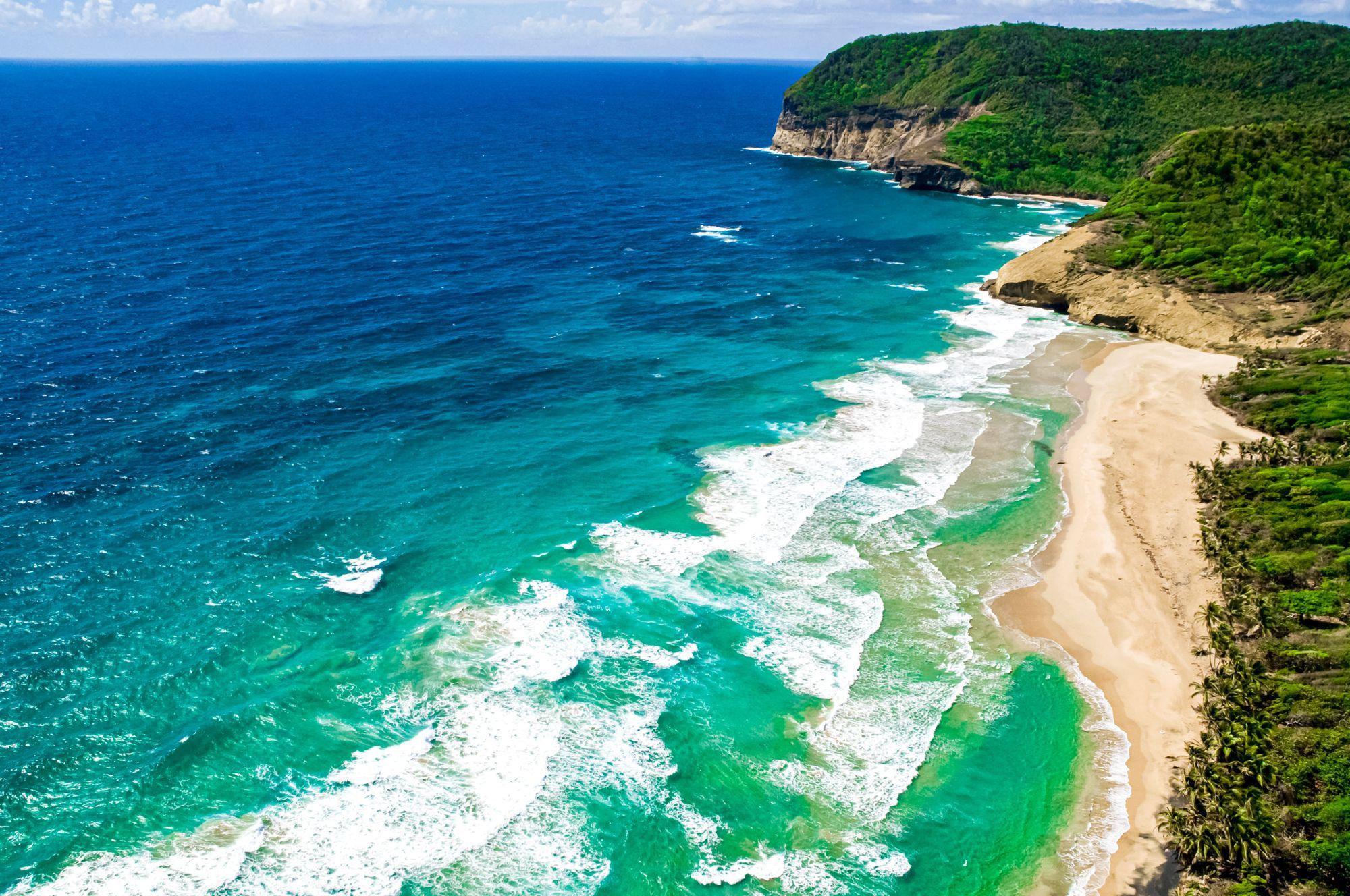 Grande Anse beach Saint Lucia