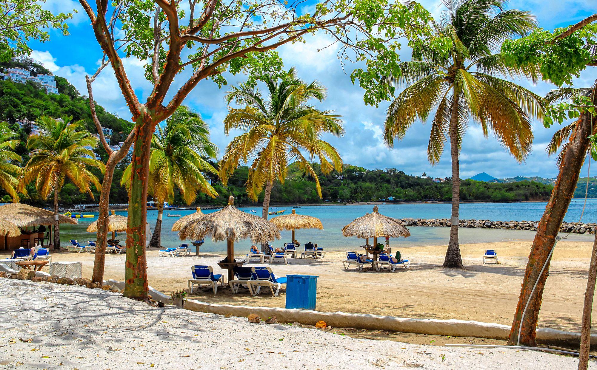 Gros Islet Beach Saint Lucia