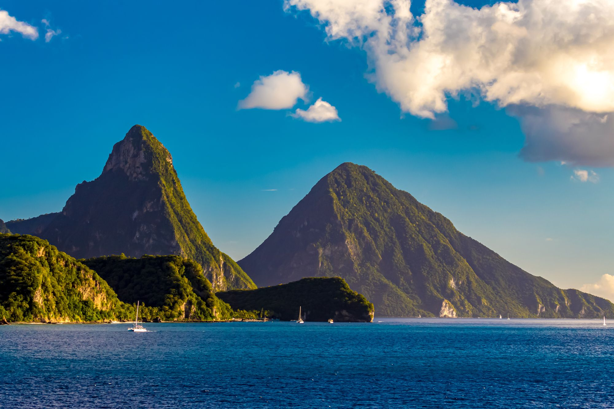 Pitons Mountains Saint Lucia