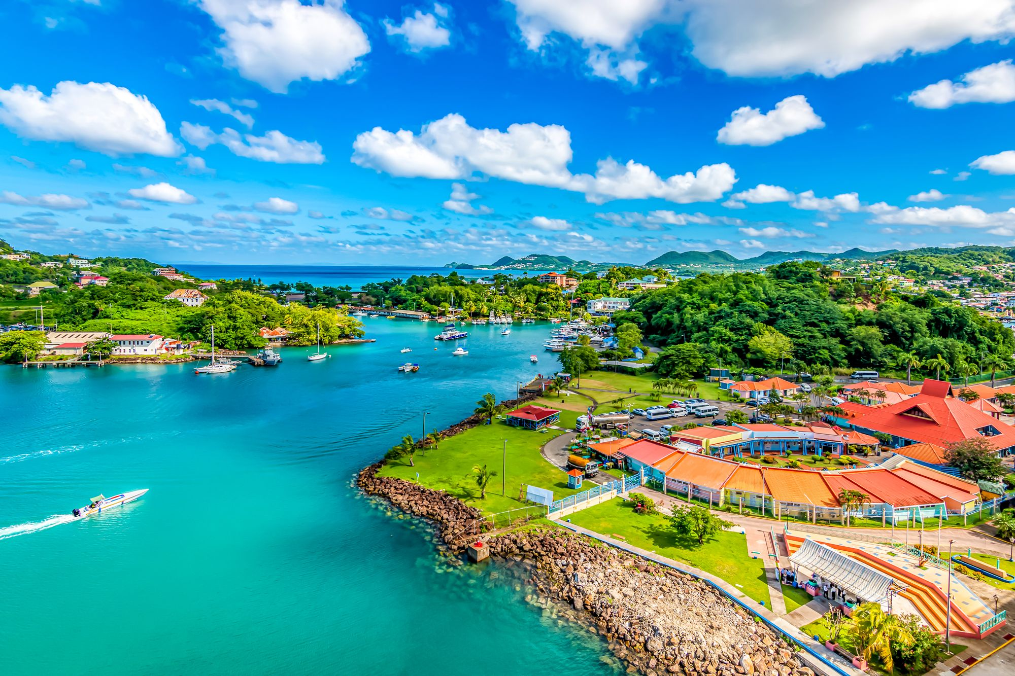 Port Castries Saint Lucia Aerial