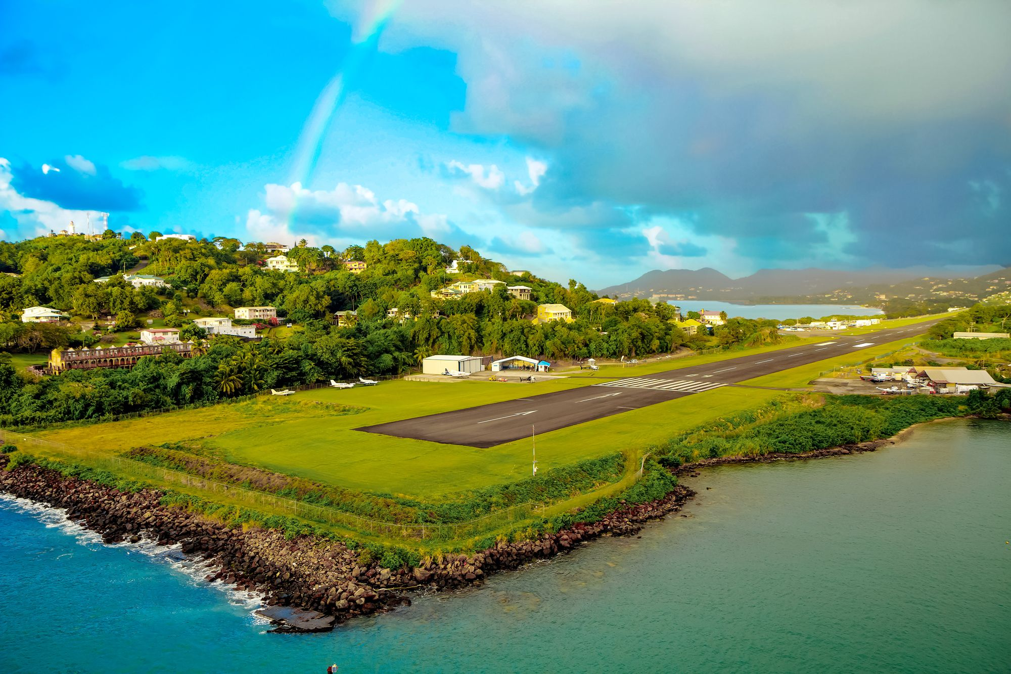 Saint Lucia Airport View