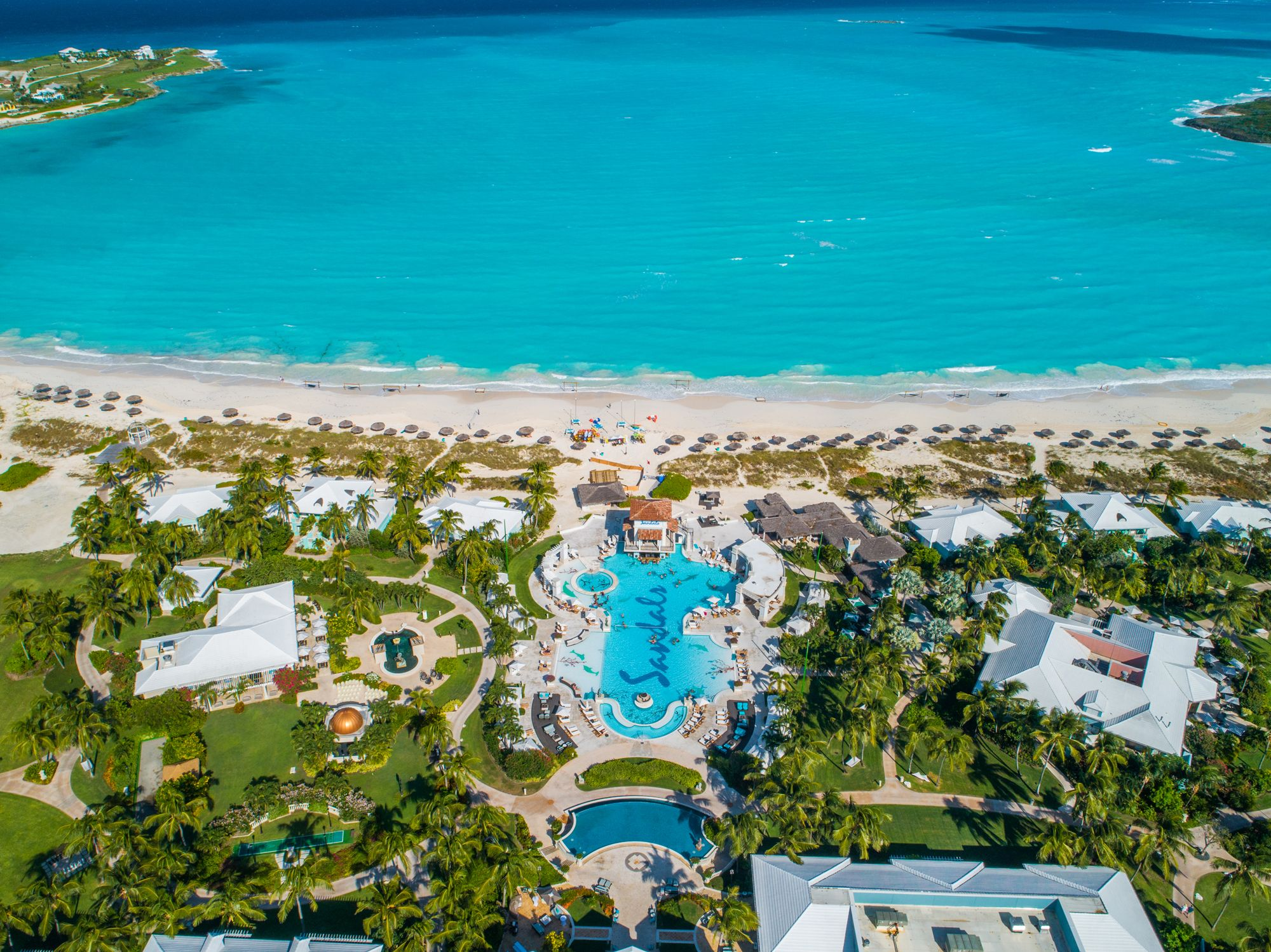 Sandals Emerald Bay Aerial Bahamas