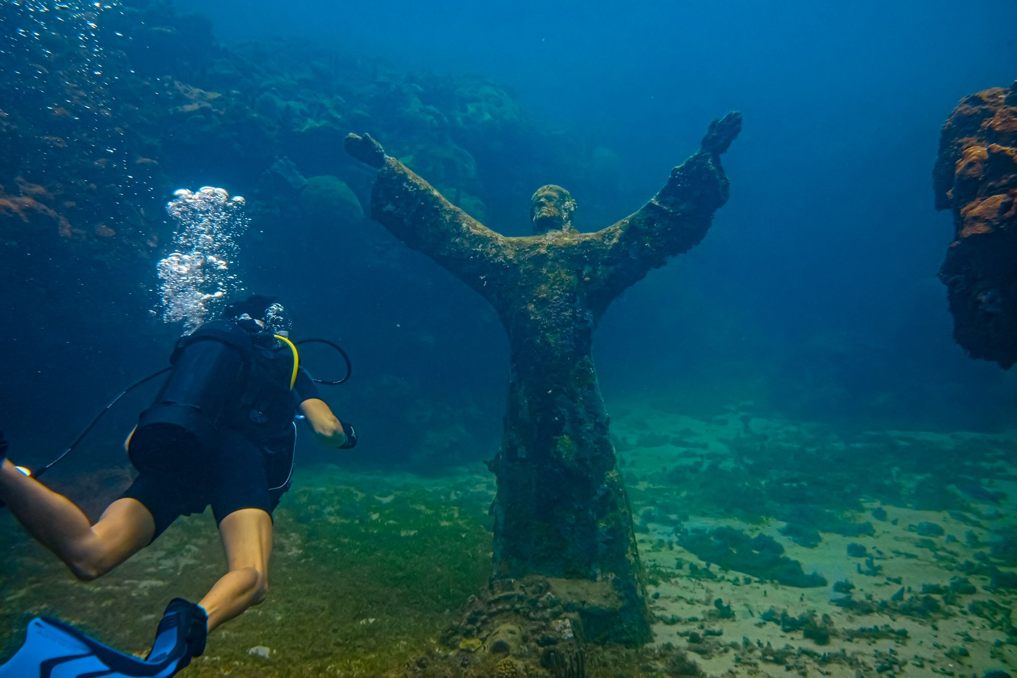 Grenada Scuba Diving Bronze Christ Underwater Statue